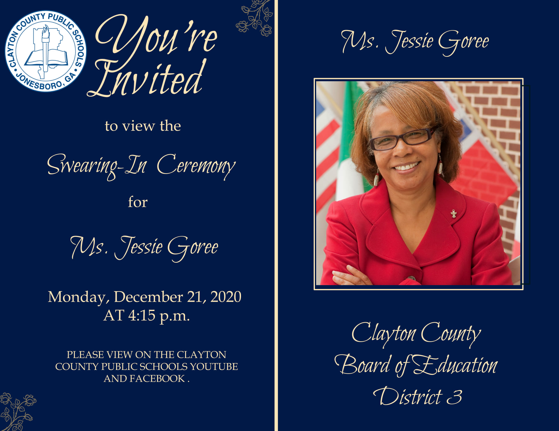 CCBOE Swearing-In Invitations